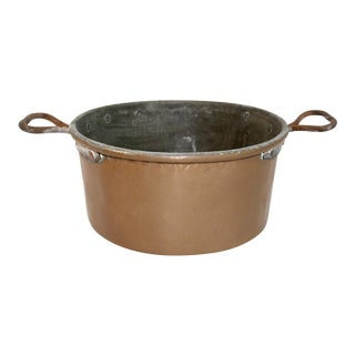 Vintage Rustic Copper Pot For Sale