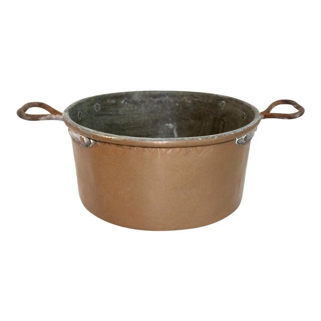 Vintage Rustic Copper Pot For Sale