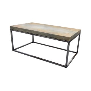 "Contemporary Concrete Coffee Table ""MadMax"" For Sale"