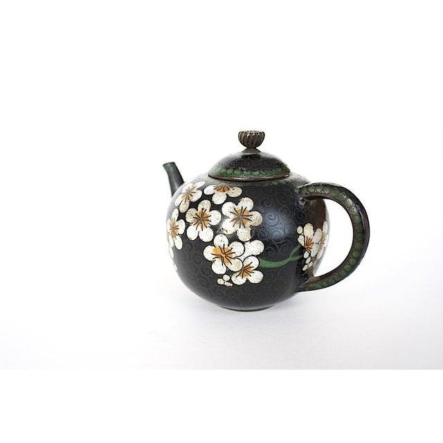 Antique Miniature Japanese Cloisonne Teapot For Sale - Image 12 of 13