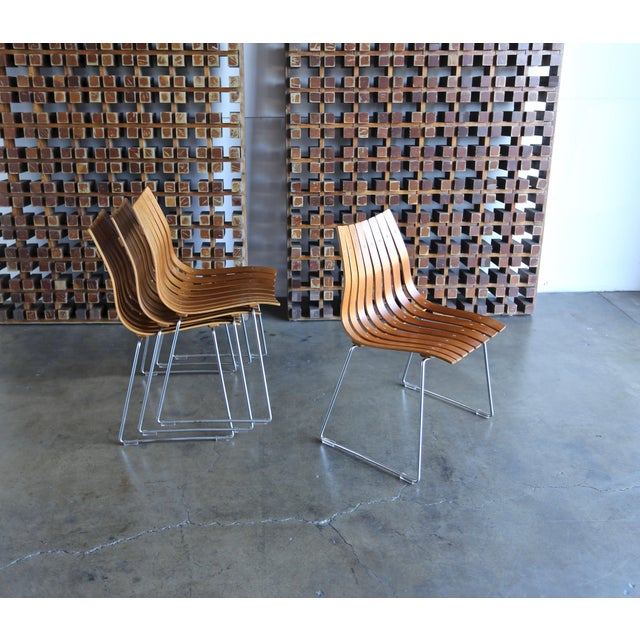 1960s Hans Brattrud Scandia for Hove Mobler Dining Chairs - Set of 4 For Sale - Image 11 of 12