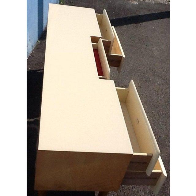1950s 1950s Pier Luigi Colli Vintage Italian Design Ashwood Desk For Sale - Image 5 of 8