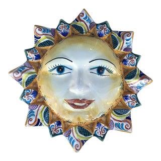 Portuguese Faience Sun Face