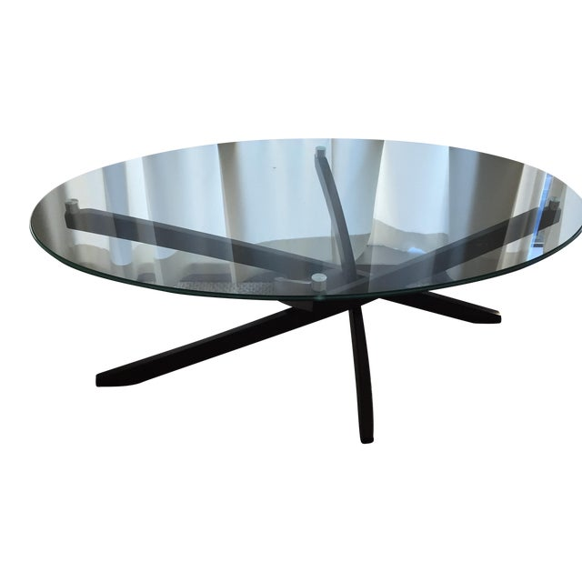 Contemporary Glass Coffee Table - Image 1 of 3