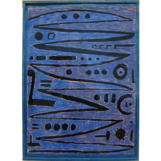 Paul Klee - Heroic Strokes of the Bow - Inspired Silk Hand Woven Area - Wall Rug 4′11″ × 6′9″ For Sale - Image 9 of 10