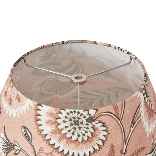 Schumacher Schumacher Ursula Linen Lampshade in Blush For Sale - Image 4 of 5