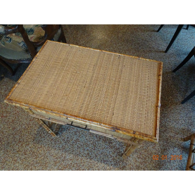 Pair of Vintage French Bamboo Tables For Sale - Image 4 of 10
