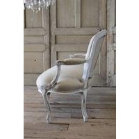 Mid 19th Century 19th C Louis XV White Upholstered Settee For Sale - Image 5 of 6