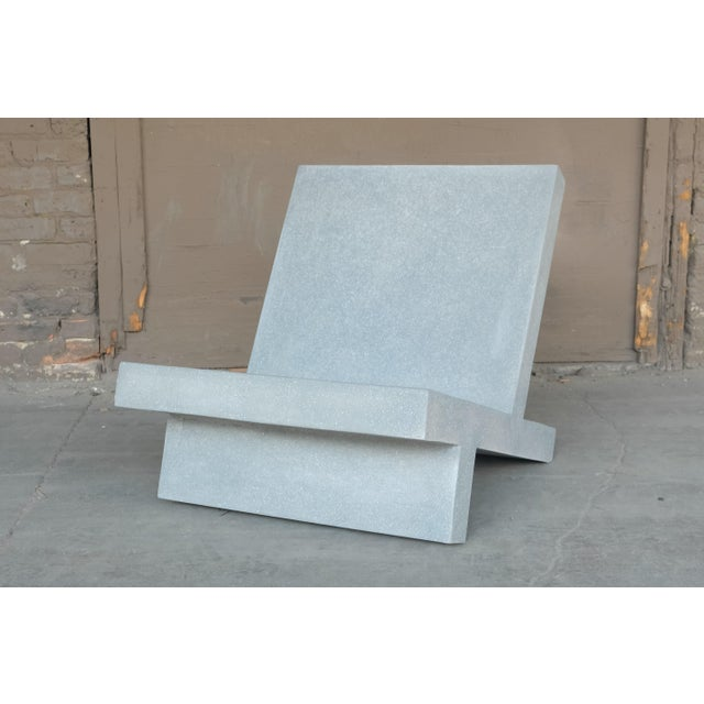 The Wavebreaker chair is pictured in our gray stone finish. The modern, minimal look of concrete make it appropriate for a...