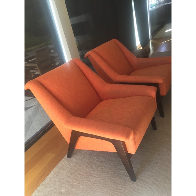 Kravet Windham Lounge Chairs - A Pair - Image 3 of 5