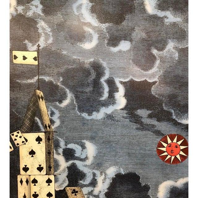 "Mid-Century Modern ""Citta' DI Carte"" Folding Screen by Piero Fornasetti For Sale - Image 3 of 6"