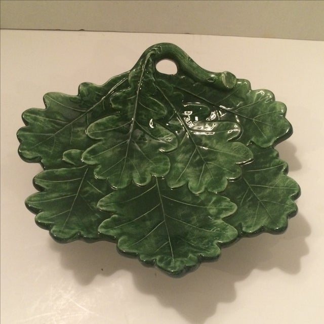 Majolica-Style Leaf Dish - Image 2 of 6
