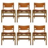 "Image of 1960s Vintage Børge Mogensen ""Hunting"" Chairs- Set of 6 For Sale"