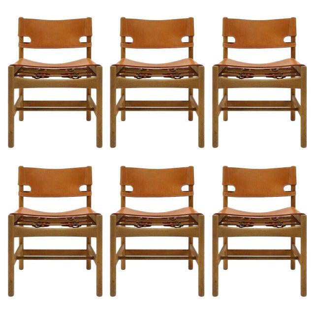 "1960s Vintage Børge Mogensen ""Hunting"" Chairs- Set of 6 For Sale"