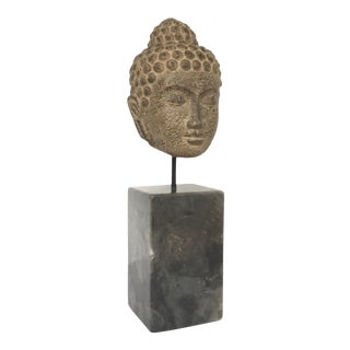 Asian Modern Kosala Buddha on Marble Stand Sculpture For Sale