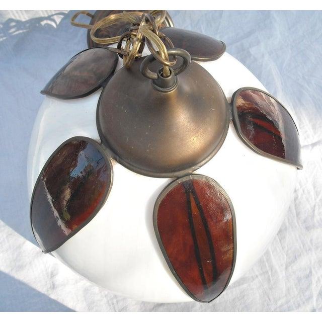 Mid-Century Modern Lotus Glass Pendant Light - Image 6 of 8