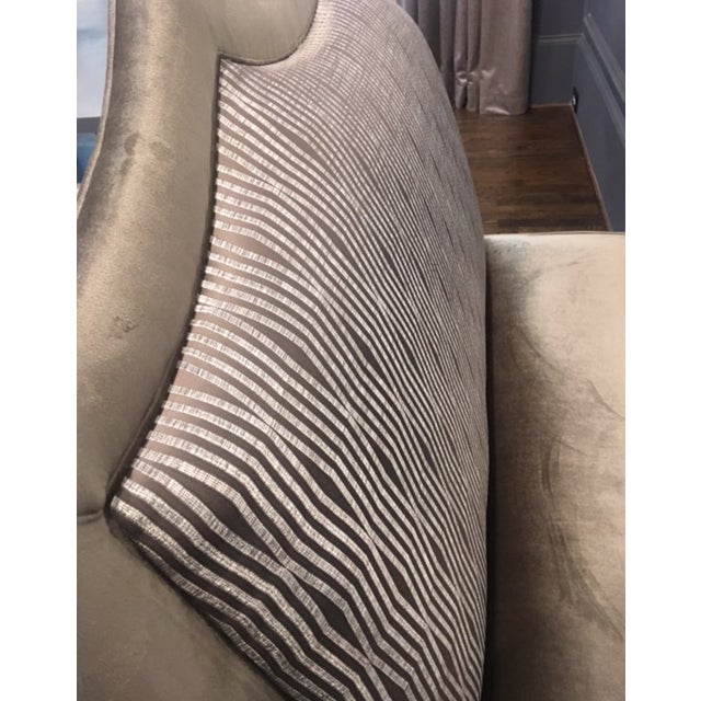 Fabric Transitional Custom Made Designer Bench For Sale - Image 7 of 9