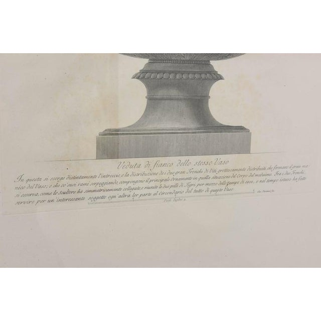 White Set of Two Italian Copper-Plate Engravings by Giovanni Battista Piranesi For Sale - Image 8 of 10