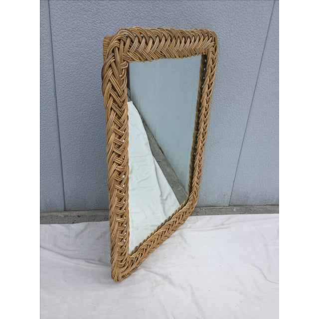 1960's Modern Rattan Mirror - Image 3 of 7