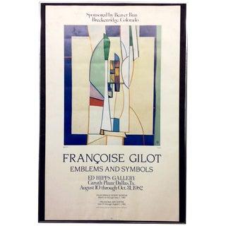 Francoise Gilot 1982 Exhibition Poster