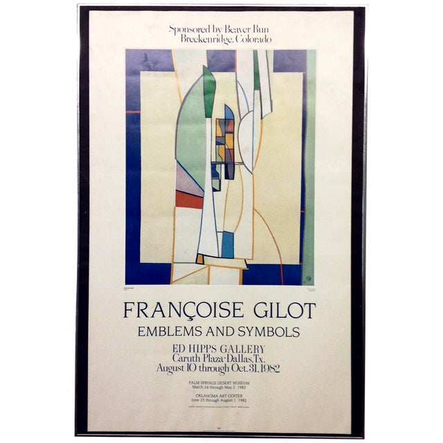 Francoise Gilot 1982 Exhibition Poster For Sale