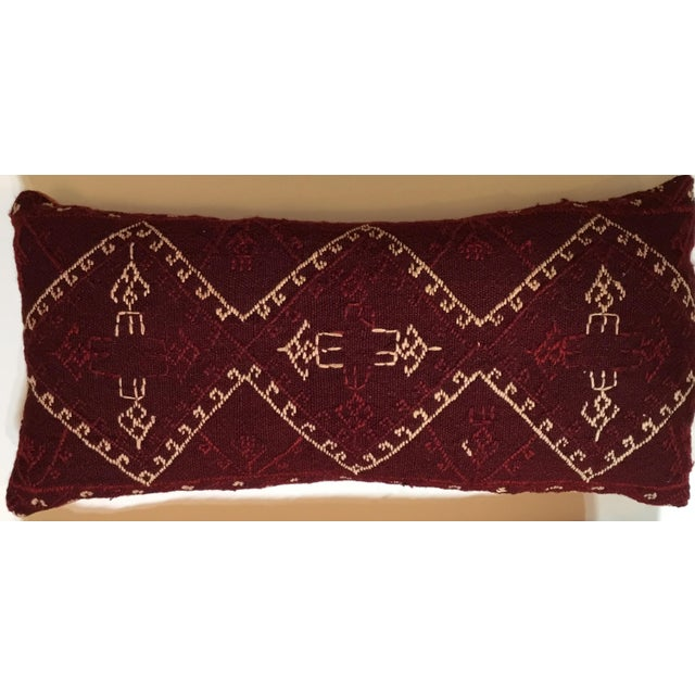 Hand Embroidery Textile Pillows - A Pair For Sale - Image 4 of 10