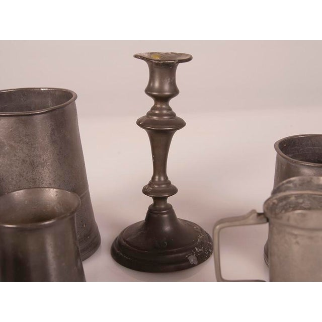 Mid 19th Century English Pewter Pieces with Maker Stamps Circa 1850 - Set of 11 For Sale - Image 5 of 11