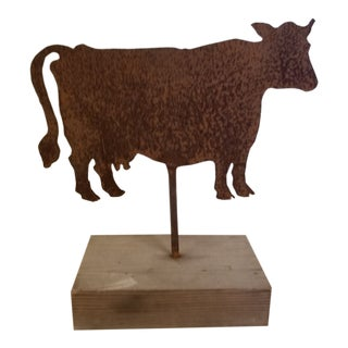 Rusty Cow Sign For Sale