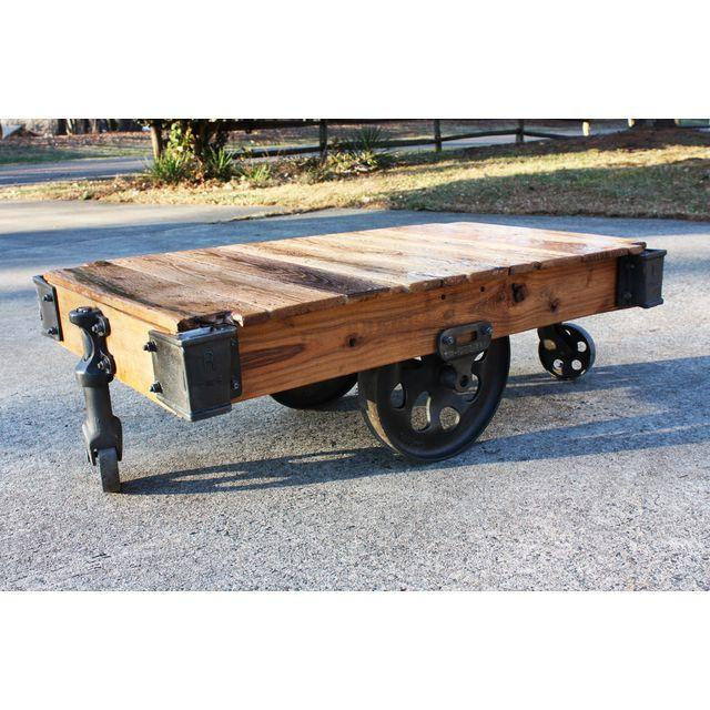 Lineberry Furniture Cart / Coffee Table   Image 4 Of 8
