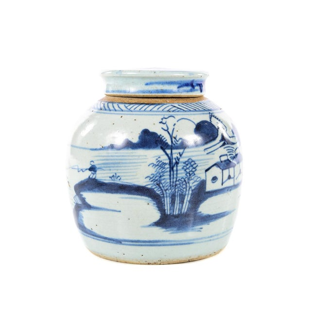 Antique Chinese Blue & White Jar For Sale - Image 4 of 9