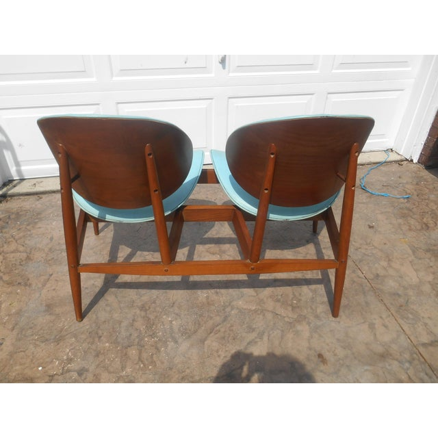 1960's Mid-Century Modern Kodawood Clamshell Bench Chairs For Sale - Image 4 of 9