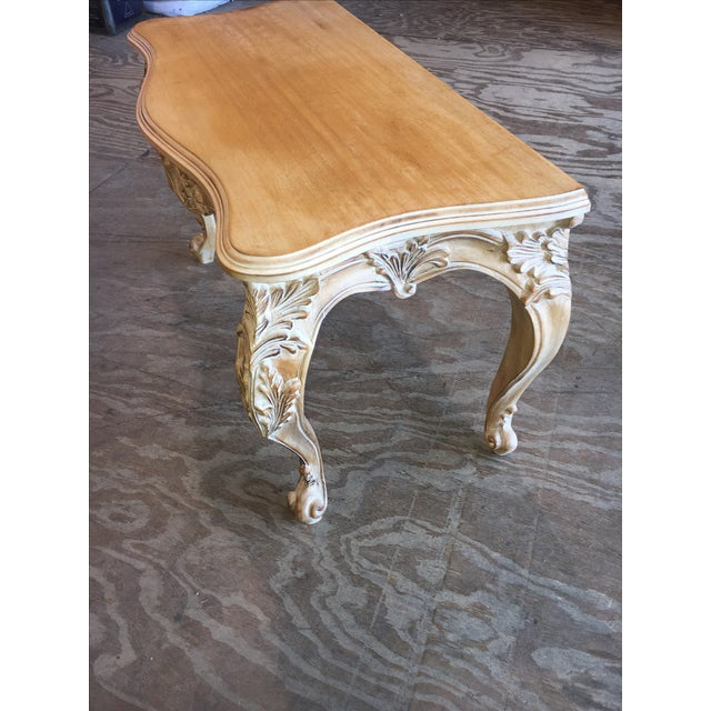 Italian Carved Wood Console Table - Image 4 of 11