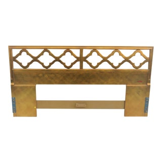 Hollywood Regency Gold King Size Headboard For Sale