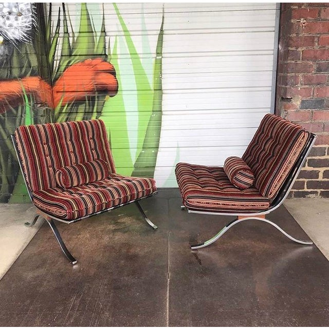 Textile Mid Century Modern Selig Chairs- a Pair For Sale - Image 7 of 7