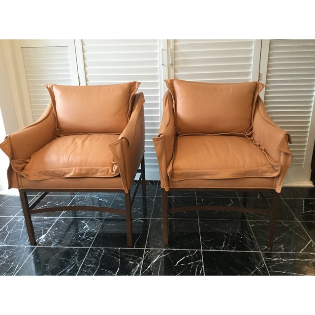 1990s Vintage Leather Chairs- a Pair For Sale - Image 13 of 13