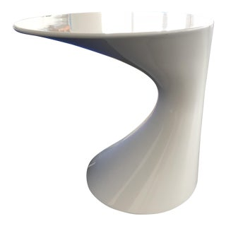 Set of Two Contemporary Todd Bracher for Zanotta White Lacquer Side Tables
