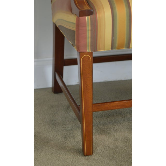 Stickley Colonial Williamsburg Collection Mahogany Martha Washington Lolling Arm Chair For Sale - Image 11 of 13