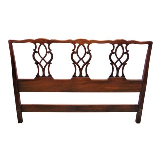 Chippendale Kindel Mahogany Queen Size Headboard For Sale