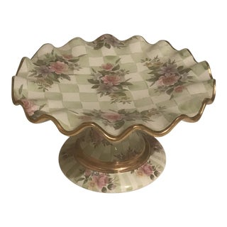 Vintage Collectible Mackenzie Childs Cake Stand For Sale