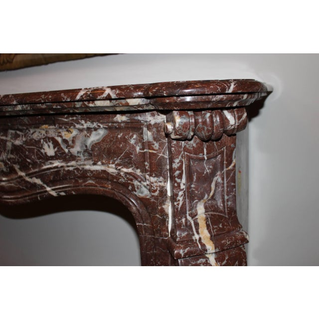 French French Louis XV Style Marble Mantel For Sale - Image 3 of 9