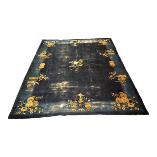 Late 19th Century Antique Chinese Peking Carpet - 8′2″ × 9′10″ For Sale