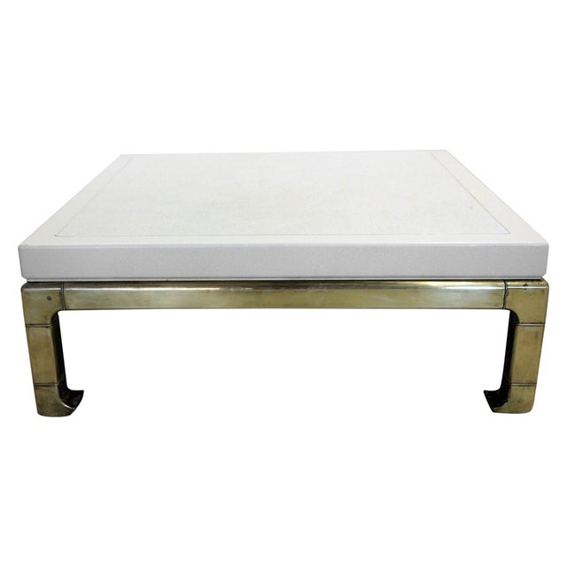 Mastercraft Brass and Lacquered Coffee Table - Image 1 of 8