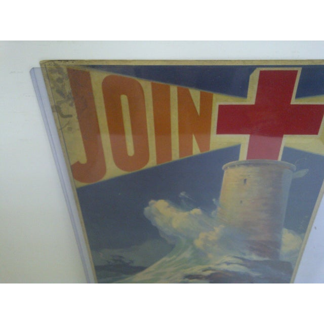 Vintage WWII American Red Cross Poster For Sale - Image 4 of 6