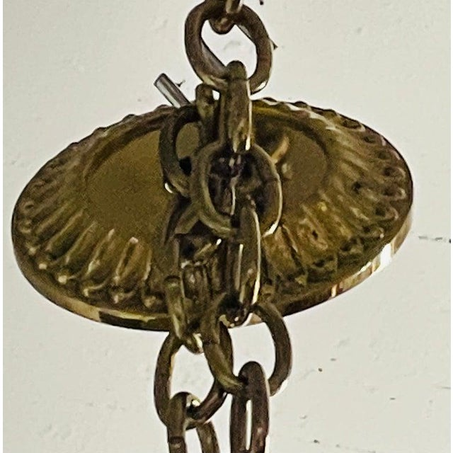 Bronze Georgian Style Chandelier Having Eight Lights For Sale - Image 10 of 13