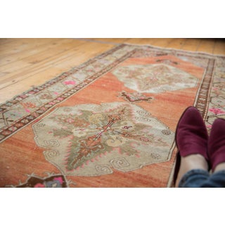 """Vintage Distressed Oushak Rug Runner - 3'5"""" X 10'11"""" Preview"""