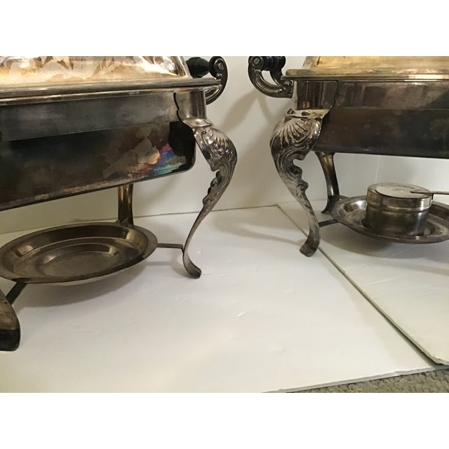 Vintage Silverplate Covered Buffet Server Chafing Dish a Pair For Sale - Image 12 of 12