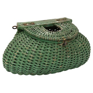 Antique French Fishing Basket For Sale