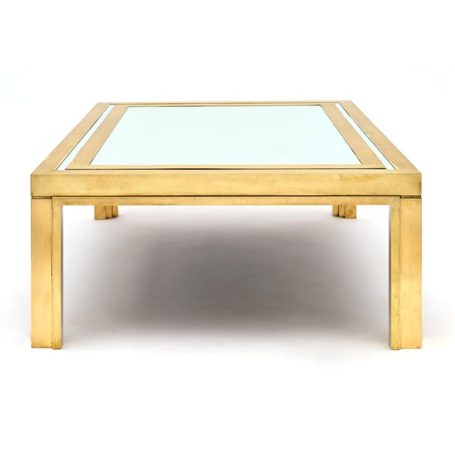 Romeo Rega Brass and Mirror Coffee Table For Sale In Austin - Image 6 of 10
