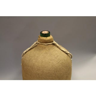 Large French Glass Bottle and Cork Lid With Original Cloth Covering Preview