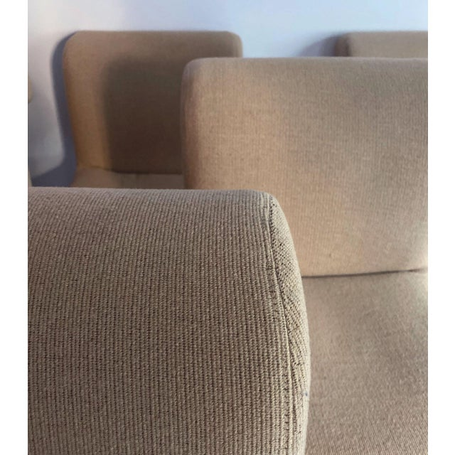 1980s Allover Upholstered Dining Chairs - Set of 6 For Sale - Image 4 of 8
